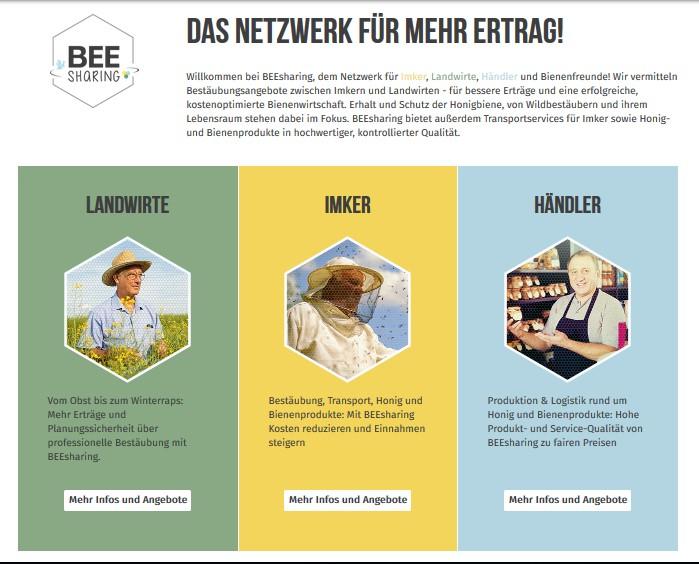 Сервис для пчеловодов и садоводов beesharing.eu