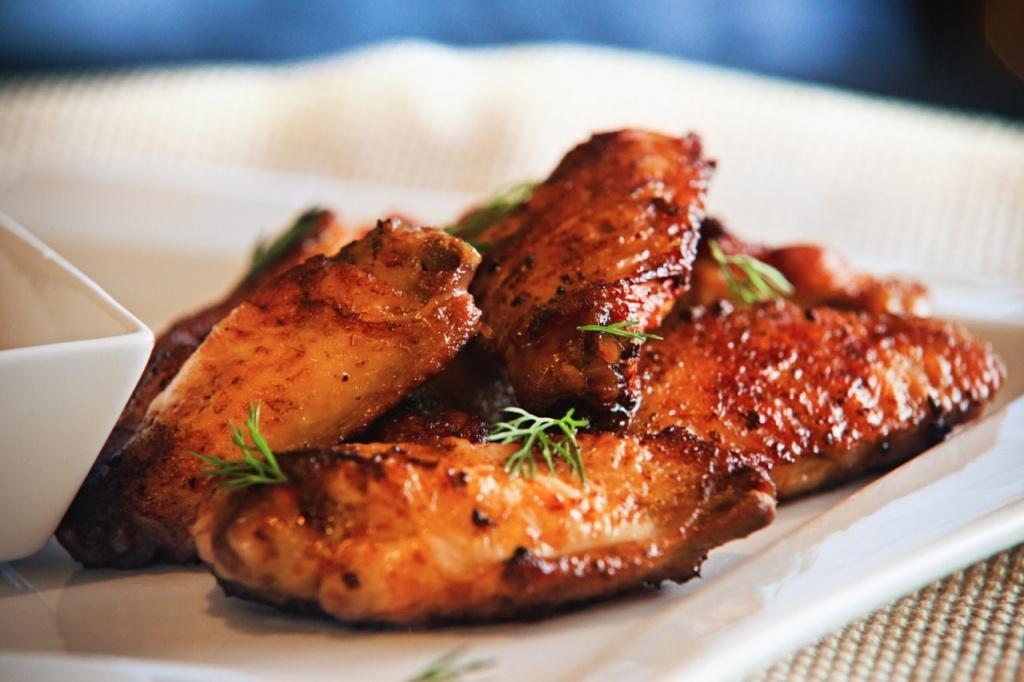 Grilled chicken slices